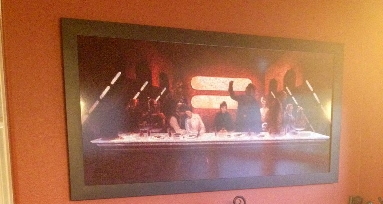 """Customer Appreciation"" Pic of the Last Supper Mosaic"
